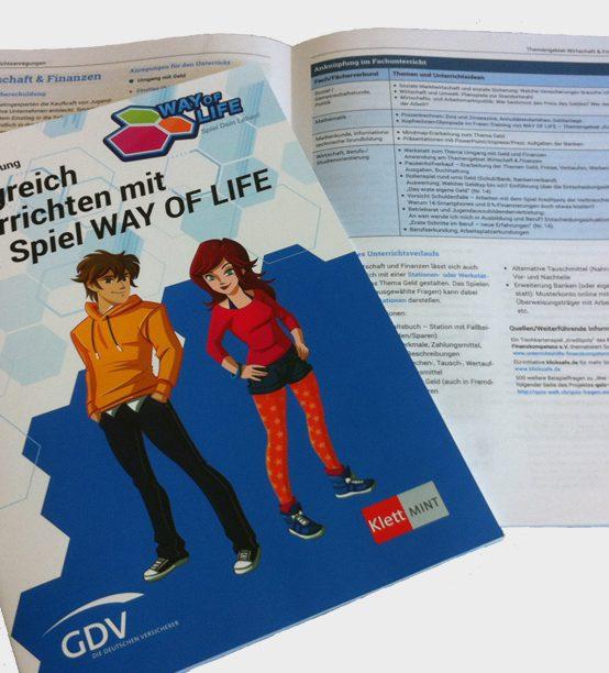 """GDV und Klett MINT entwickeln das Serious Game """"WAY OF LIFE"""" mit unterstützender Lehrerhandreichung"""